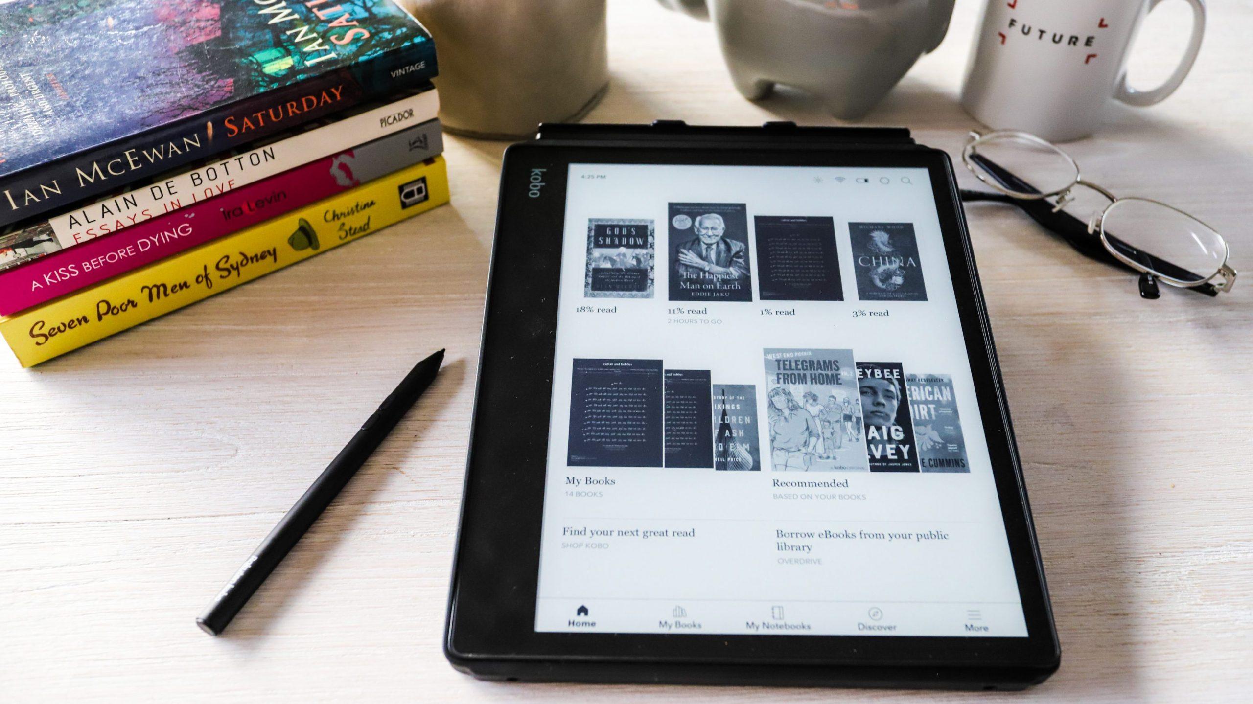 E-reader tablet kobo nook kindle amazon ipad